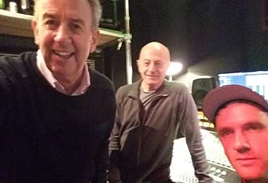 Mike Hugg, Gethyn Jones and Nick Bowen at Quay West Studios