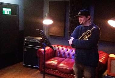 Tom - Teddy - Edwards playing trumpet on Ozone by Redlipz